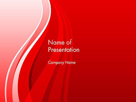 Curves on Red PowerPoint Template