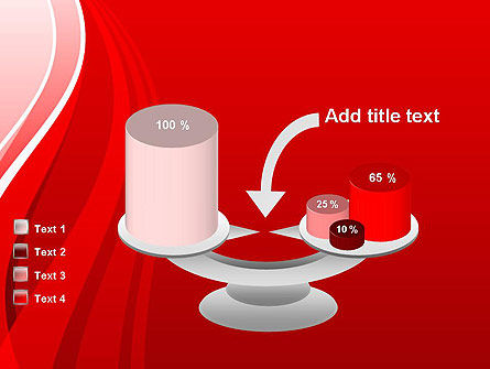 Curves on Red PowerPoint Template Slide 10