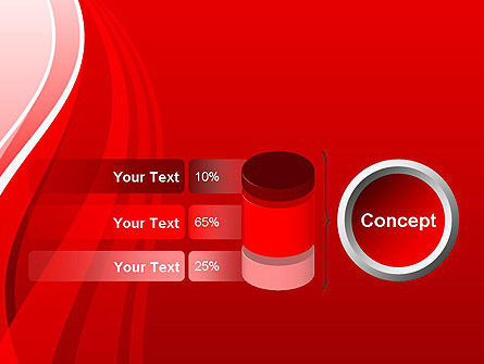 Curves on Red PowerPoint Template Slide 11