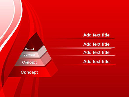 Curves on Red PowerPoint Template Slide 12