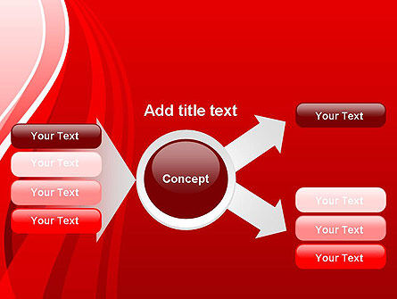 Curves on Red PowerPoint Template Slide 14
