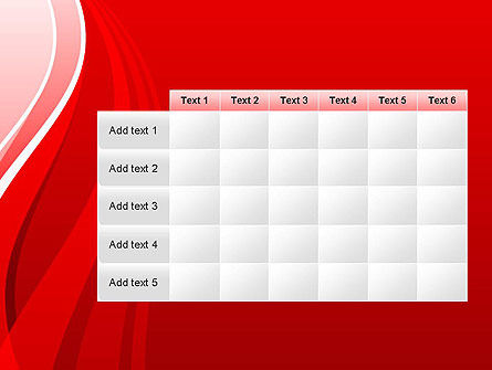 Curves on Red PowerPoint Template Slide 15