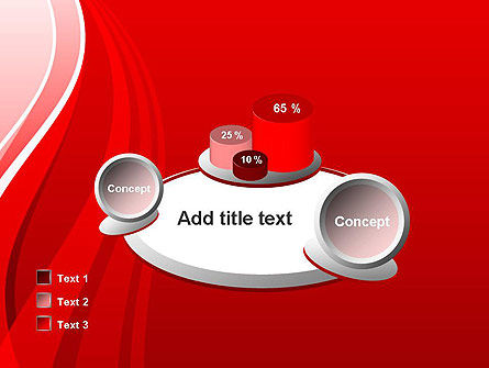 Curves on Red PowerPoint Template Slide 16