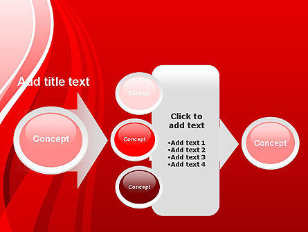 Curves on Red PowerPoint Template Slide 17