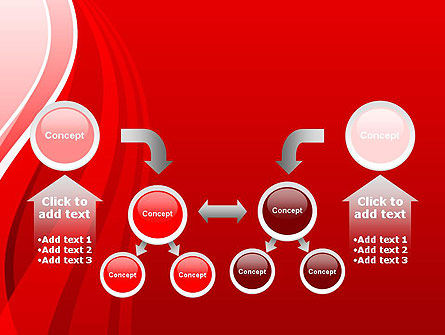 Curves on Red PowerPoint Template Slide 19