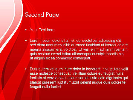 Curves on Red PowerPoint Template Slide 2