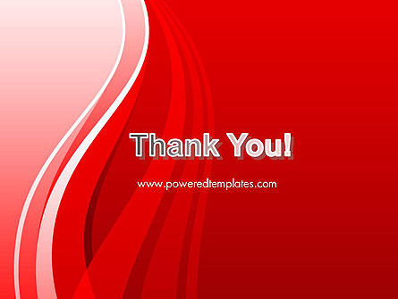 Curves on Red PowerPoint Template Slide 20