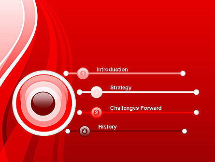 Curves on Red PowerPoint Template, Slide 3, 13175, Abstract/Textures — PoweredTemplate.com
