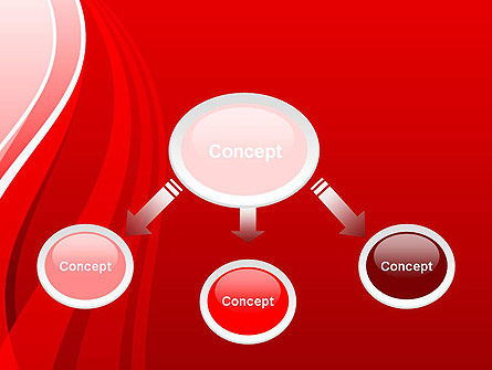 Curves on Red PowerPoint Template, Slide 4, 13175, Abstract/Textures — PoweredTemplate.com