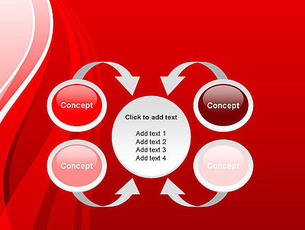 Curves on Red PowerPoint Template Slide 6
