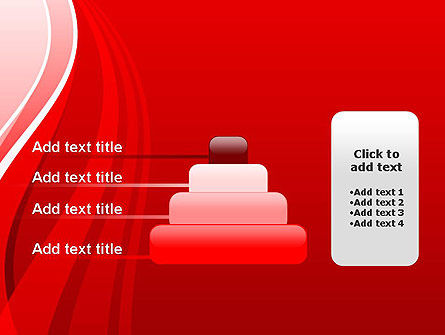 Curves on Red PowerPoint Template Slide 8
