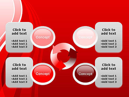 Curves on Red PowerPoint Template Slide 9