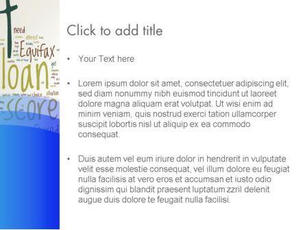 Credit Word Cloud PowerPoint Template, Slide 3, 13176, Financial/Accounting — PoweredTemplate.com