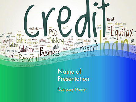 Credit Word Cloud PowerPoint Template, 13176, Financial/Accounting — PoweredTemplate.com