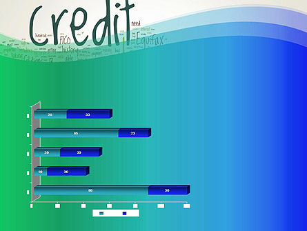 Credit Word Cloud PowerPoint Template Slide 11