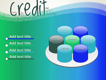 Credit Word Cloud PowerPoint Template Slide 12