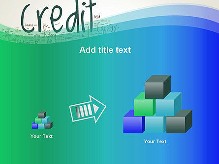 Credit Word Cloud PowerPoint Template Slide 13