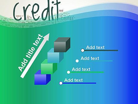 Credit Word Cloud PowerPoint Template Slide 14