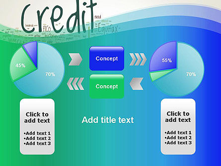 Credit Word Cloud PowerPoint Template Slide 16