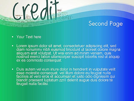 Credit Word Cloud PowerPoint Template, Slide 2, 13176, Financial/Accounting — PoweredTemplate.com