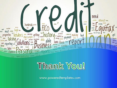 Credit Word Cloud PowerPoint Template Slide 20