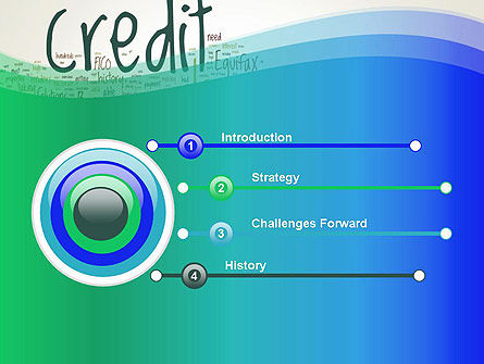 Credit Word Cloud PowerPoint Template Slide 3