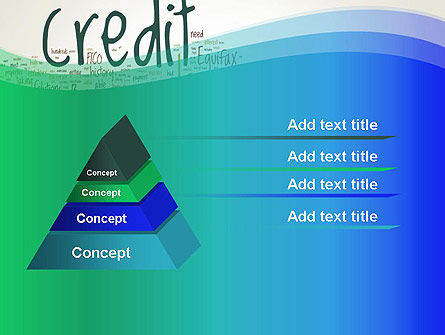 Credit Word Cloud PowerPoint Template, Slide 4, 13176, Financial/Accounting — PoweredTemplate.com
