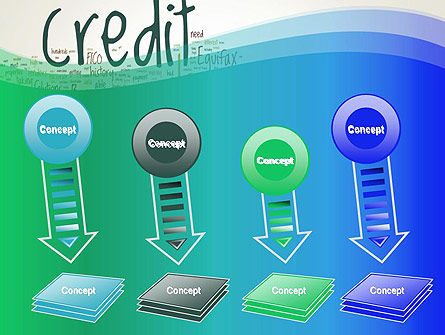Credit Word Cloud PowerPoint Template Slide 8