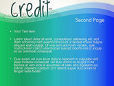 Credit Word Cloud PowerPoint Template#2