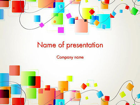 Psychedelic Funky Abstract PowerPoint Template, 13177, Abstract/Textures — PoweredTemplate.com