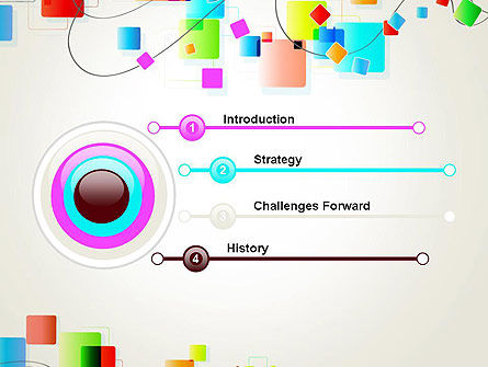 Psychedelic Funky Abstract PowerPoint Template, Slide 3, 13177, Abstract/Textures — PoweredTemplate.com
