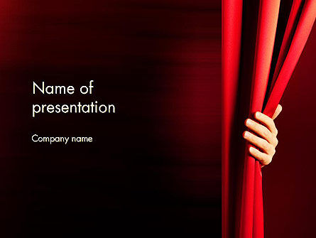 Behind the Curtain PowerPoint Template, 13178, Art & Entertainment — PoweredTemplate.com
