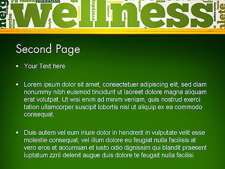Wellness Word Cloud PowerPoint Template, Slide 2, 13179, Health and Recreation — PoweredTemplate.com