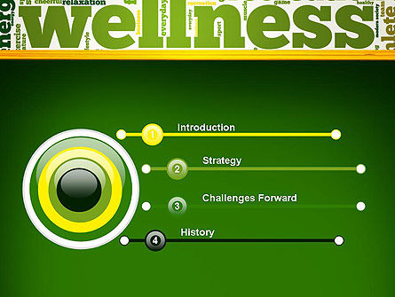 Wellness Word Cloud PowerPoint Template Slide 3