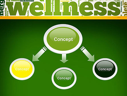 Wellness Word Cloud PowerPoint Template Slide 4