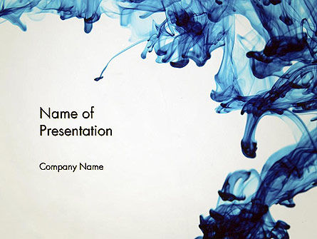 Ink Drop In Water Powerpoint Template Backgrounds
