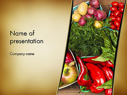 Healthy Diet Plan PowerPoint Template, 13181, Food & Beverage — PoweredTemplate.com
