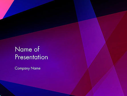 Violet Rays Abstract PowerPoint Template