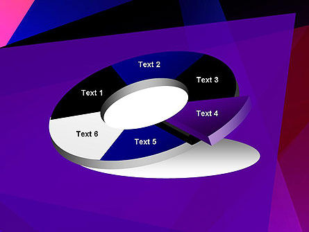 Violet Rays Abstract PowerPoint Template Slide 19
