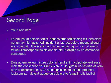 Violet Rays Abstract PowerPoint Template Slide 2