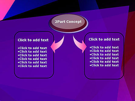 Violet Rays Abstract PowerPoint Template Slide 4