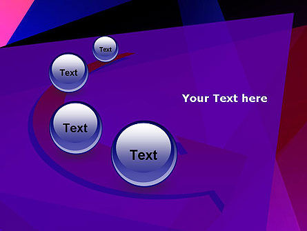 Violet Rays Abstract PowerPoint Template Slide 6