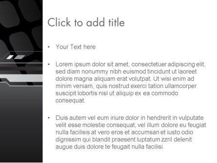Abstract Black High Tech PowerPoint Template, Slide 3, 13186, Abstract/Textures — PoweredTemplate.com