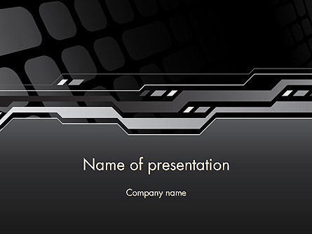 Abstract/Textures: Abstract Black High Tech PowerPoint Template #13186