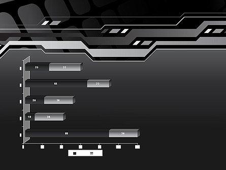 Abstract Black High Tech PowerPoint Template Slide 11