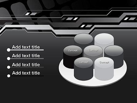 Abstract Black High Tech PowerPoint Template Slide 12