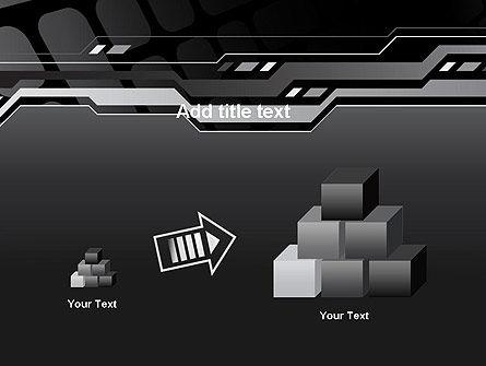 Abstract Black High Tech PowerPoint Template Slide 13