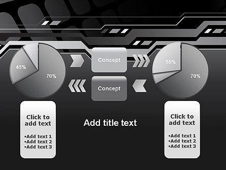 Abstract Black High Tech PowerPoint Template Slide 16