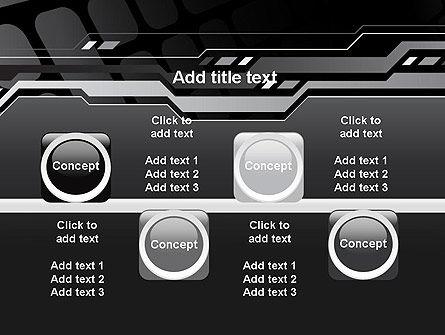 Abstract Black High Tech PowerPoint Template Slide 18