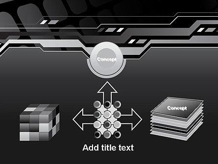 Abstract Black High Tech PowerPoint Template Slide 19
